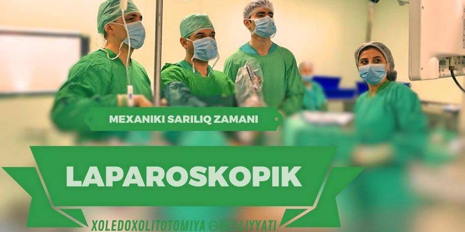 Laparoskopik xoledoxotomiya, xoledoxoskopiya və xoledoxolitotomiya əməliyyatı